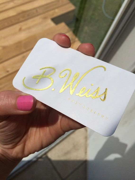 Gold foil business cards i colourmoves