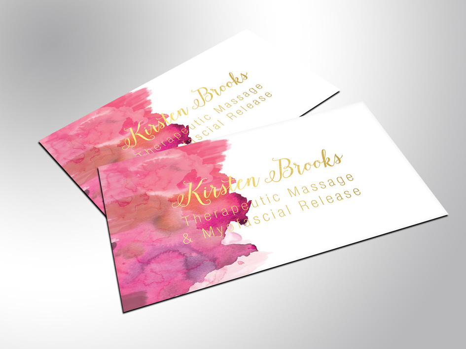 kirsten's gold foil business cards