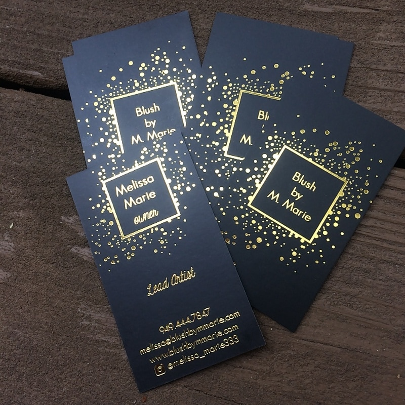 Gold Foil Business Cards ShaynaMade Main ShaynaMade