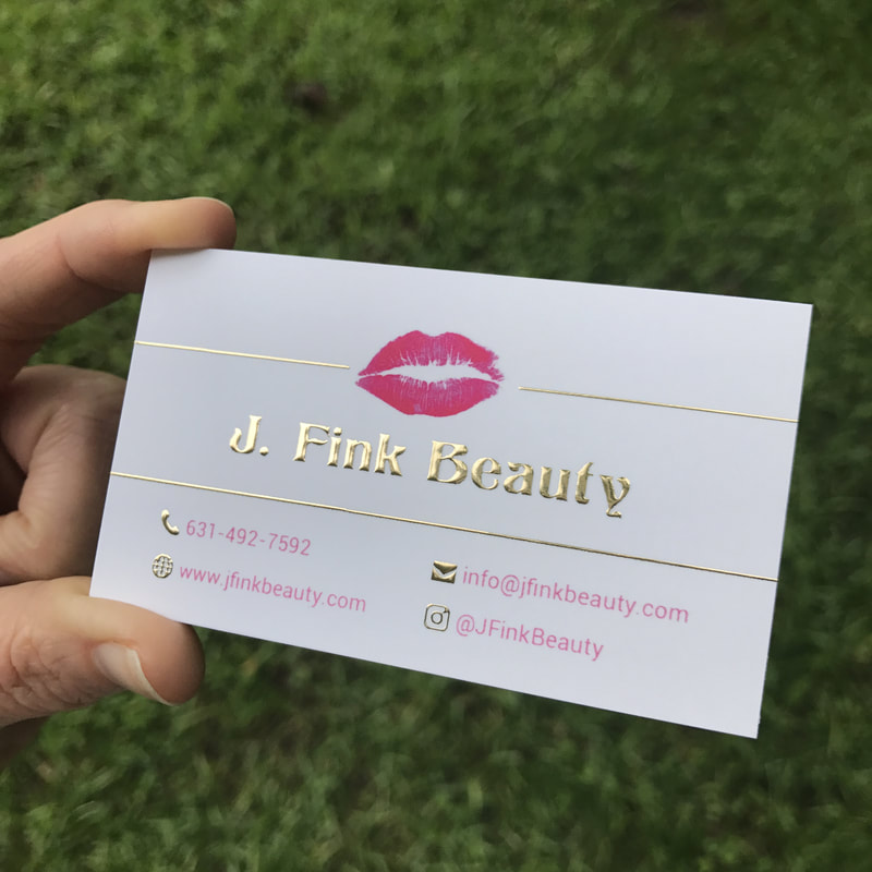 Makeup Artist Business Cards | Fancy Gold Foil Business Cards ...