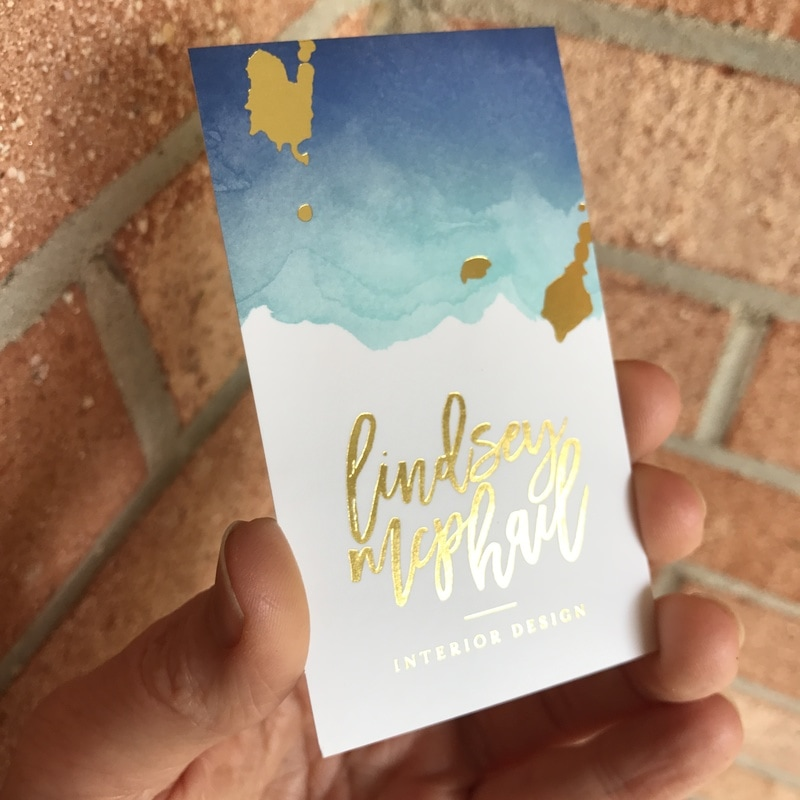 Gold Foil Business Cards | ShaynaMade - Gold Foil Business Cards ...