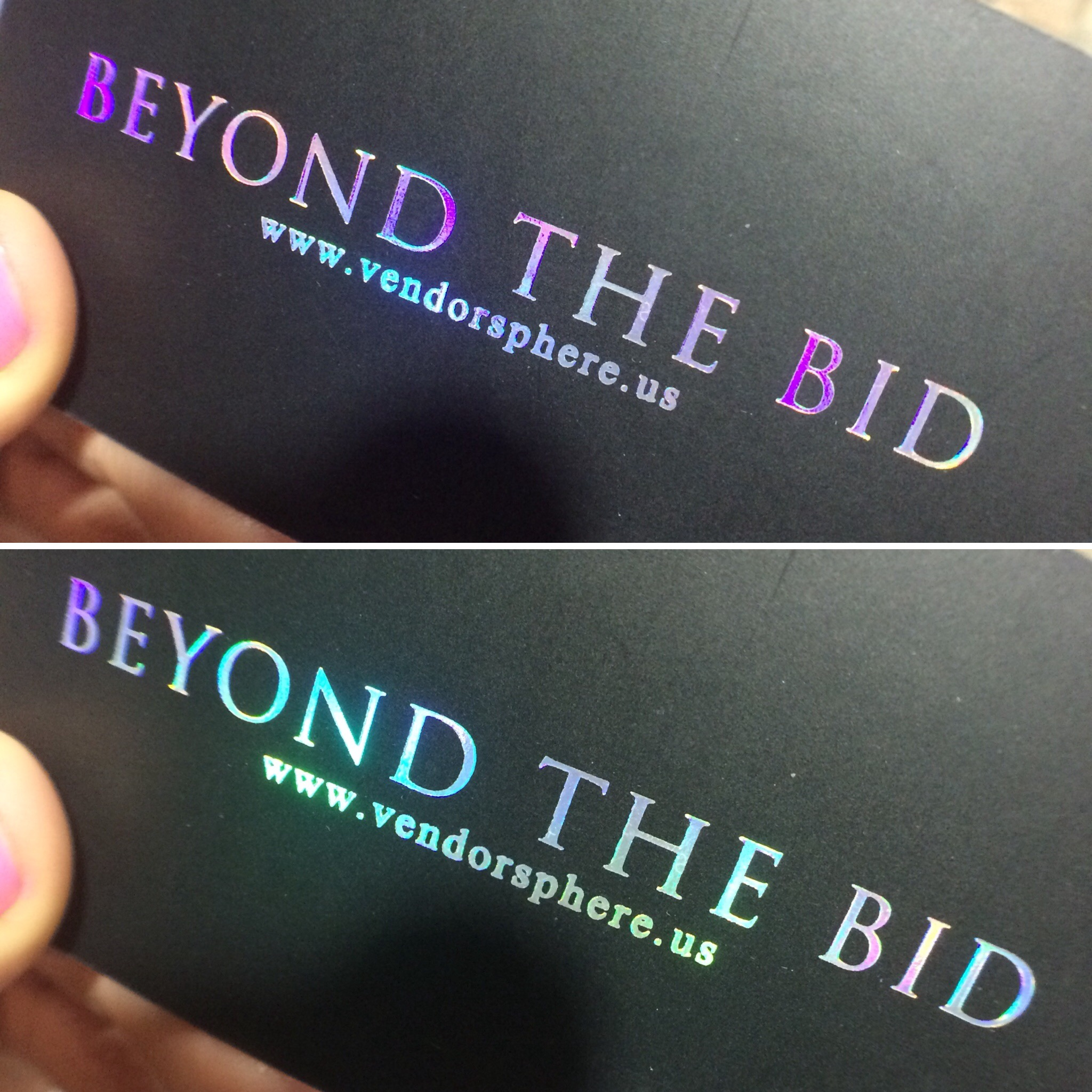 holographic business cards rainbow silver unicorn foil